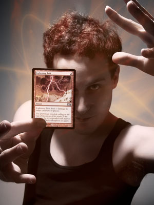 Lightning Bolt was Magic Card of the Week once before, but the image to the