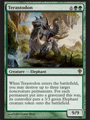 Magic the Gathering Terastodon Baloth Green Card